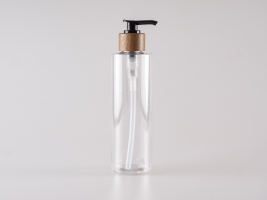 "PET Flasche ""Sharp"" 250ml, mit Dispenser Walnut"