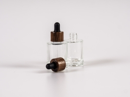 "Glasflasche ""Raoul"" 30ml mit Pipette Walnut"